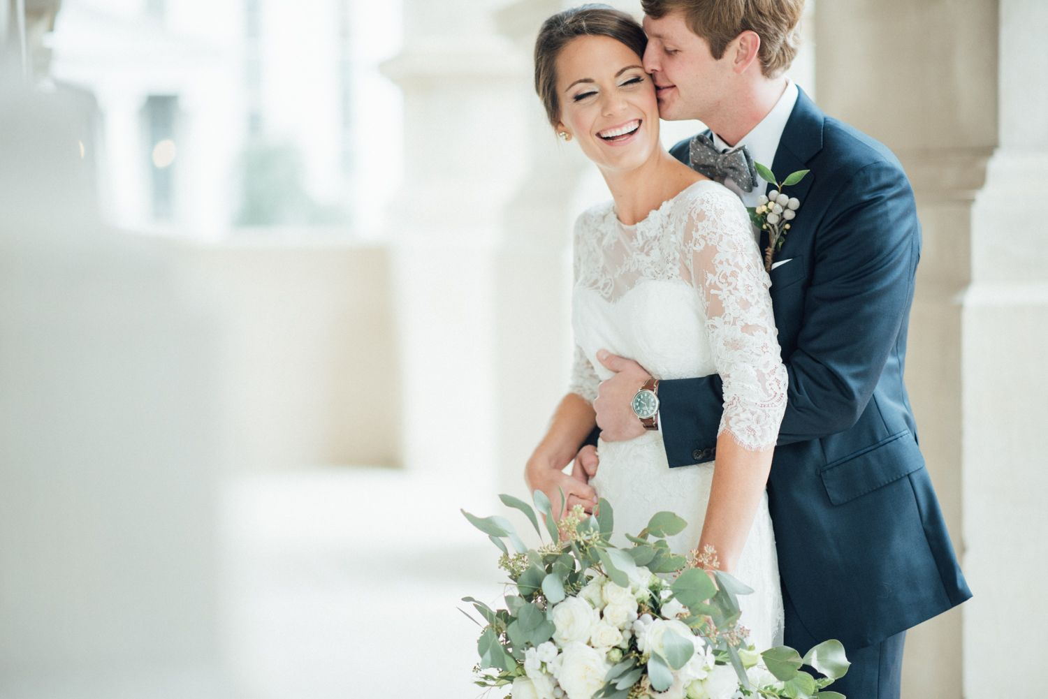 Real Wedding Inspiration: Sam & Jeremy's Winter Wedding | Gown: Lea-Ann Belter Livinia via Kelly's Closet | Image: Eva Lin Photography