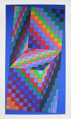 Image detail for -Axo - 77 Original Art by Victor Vasarely :: PicassoMio