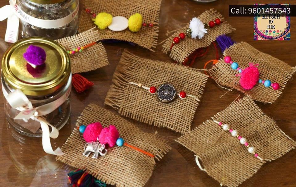 lovely rakhis at Cocoa Drama #Rakhi #KitschbyNik #HomemadeRakhi #HandmadeRakhi