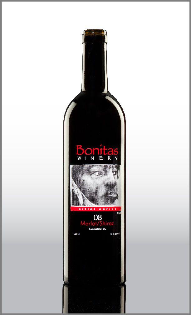 Bonitas wine bottle decorated by @thinkuniversal