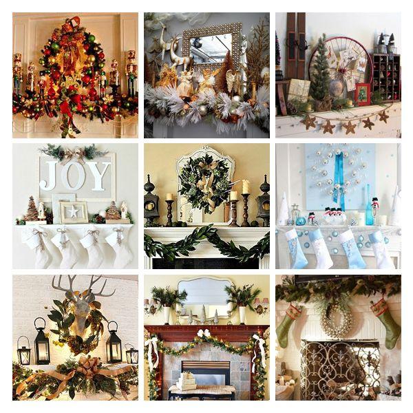 8 natural mantel decorating ideas pinterest decoratingchristmas - Pinterest Decorating Mantels For Christmas