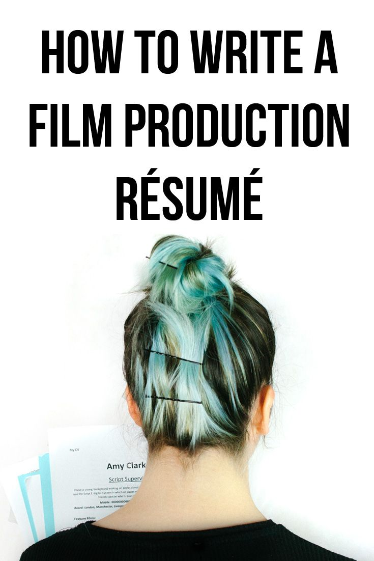 How To Write A Film Production Resume  Film Production Cv
