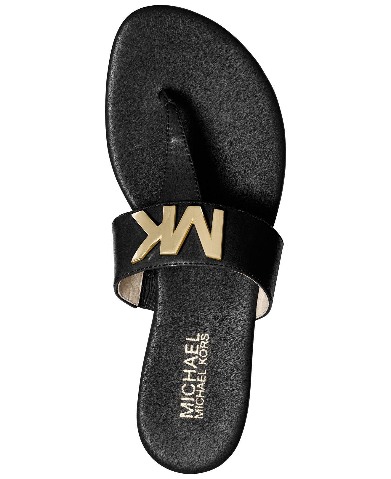 75e0ec7977b0 MICHAEL Michael Kors Hayley Thong Flat Sandals - Sandals - Shoes - Macy s