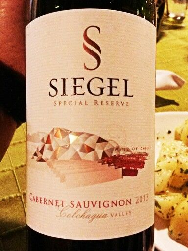 Siegel special reserve 2013 Colchagua Valley Chile