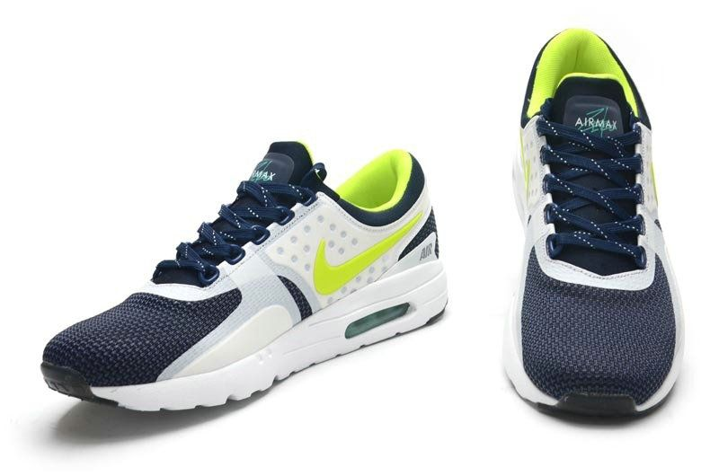 competitive price 6f912 b13a4 2018 Shop Men Nike Air Max Zero Obsidian White Volt Flash Lime