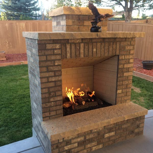 Custom Outdoor Fireplace Or Fire Pit. See More. Wood Burning Fireplace Kits