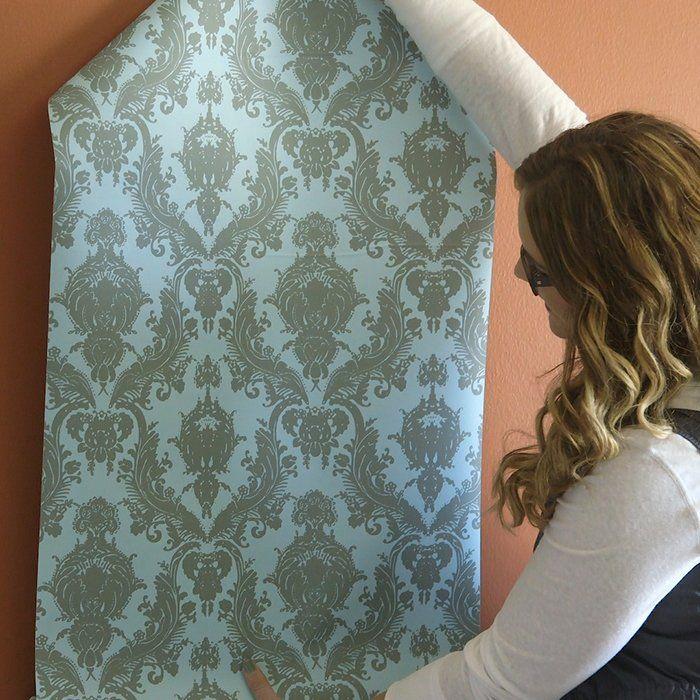 How to hang temporary wallpaper Temporary wallpaper