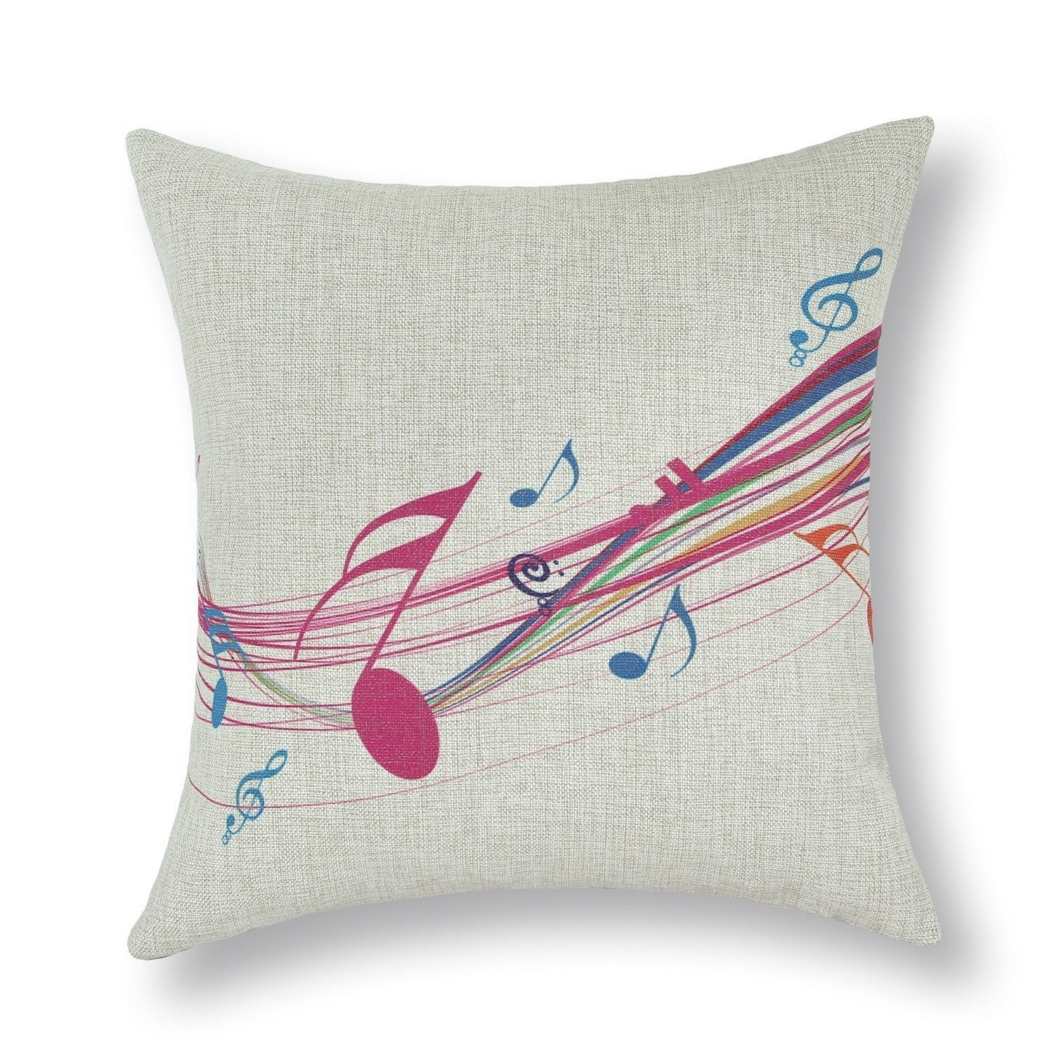 Euphoria Cushion Cover Pillows Shell Music Theme Note Piano Keyboard