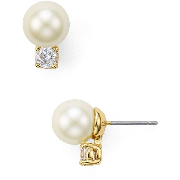 Kate Spade New York Faux Pearl Stud Earrings 38 Liked On Polyvore Featuring