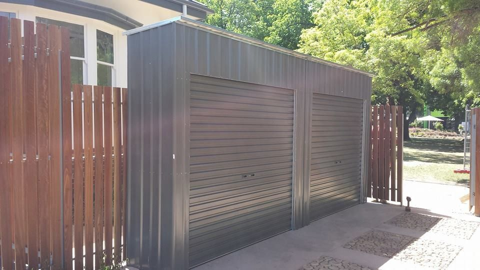 Garden Sheds Installed multiple roller door storage lockers installed | bike parking
