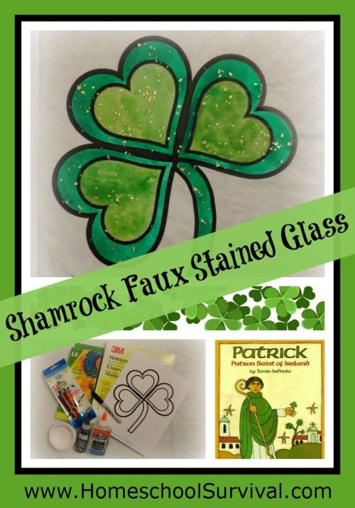 Free Shamrock Faux Stained Glass Project