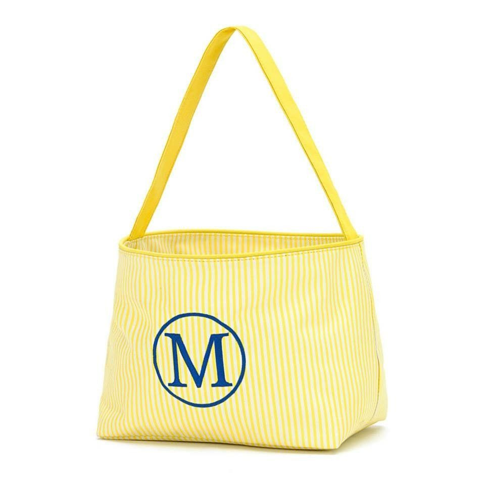 Wholesale boutique easter basket yellow stripe yellow stripes and wholesale boutique easter basket yellow stripe negle Choice Image