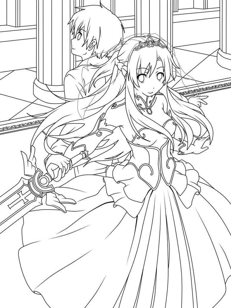On online coloring and drawing - Sword Art Online