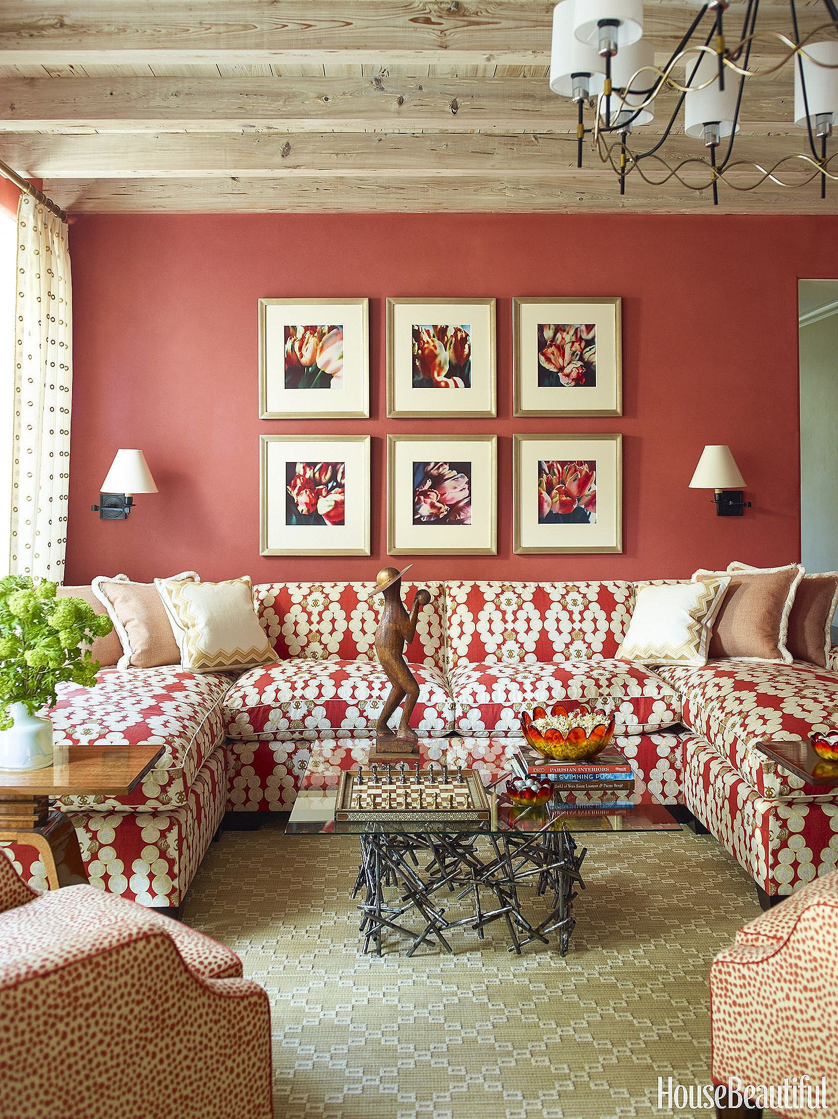 Every item on this page was curated by an elle decor editor. Luxury Brown and Red Living Room Decor Ideas - #brownand ...