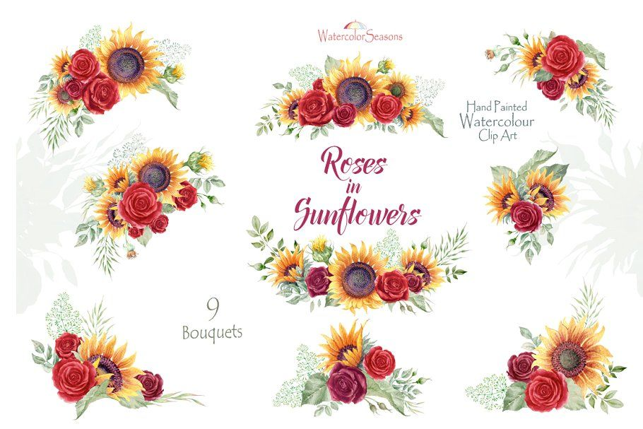 Embellishments PNG Flower clipart Sunflower clip art 50/% OFF Beautiful Sunflower Clipart Illustration Scrapbooking Party Invitations