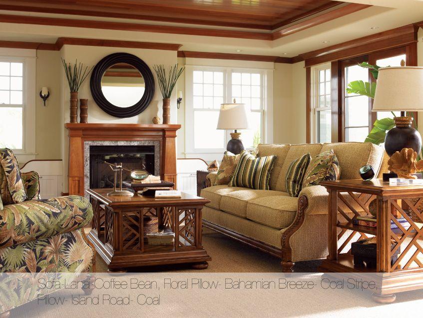 Tommy Bahama Tropical Living Room Rattan Furniture Living Room