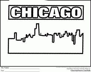 Chicago Coloring Pages Coloring Pages Color Chicago