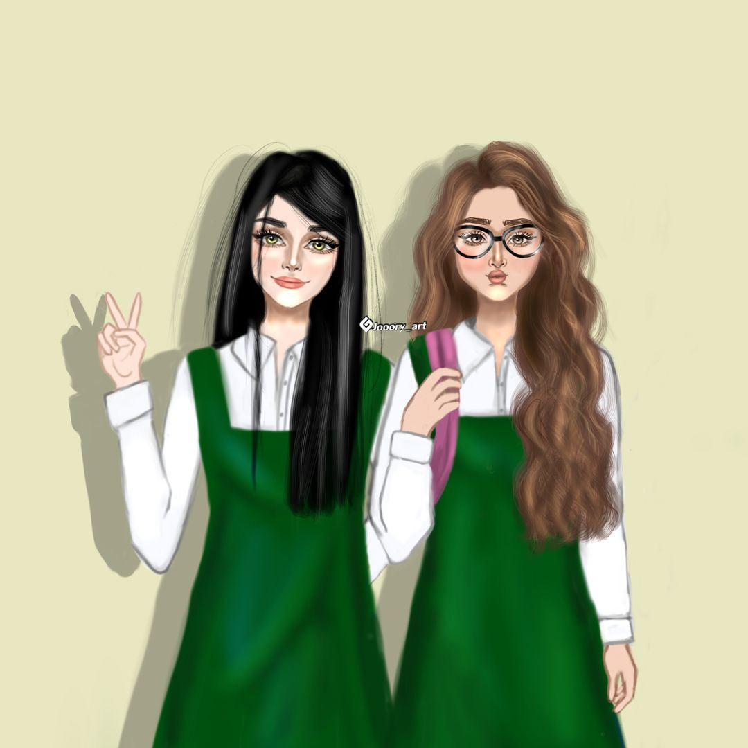 صديقيتي احبك كحب الارنب للجزر وكحب السنجاب للبندق كيف بس التشبيه Girly Art Girly M Bff Drawings