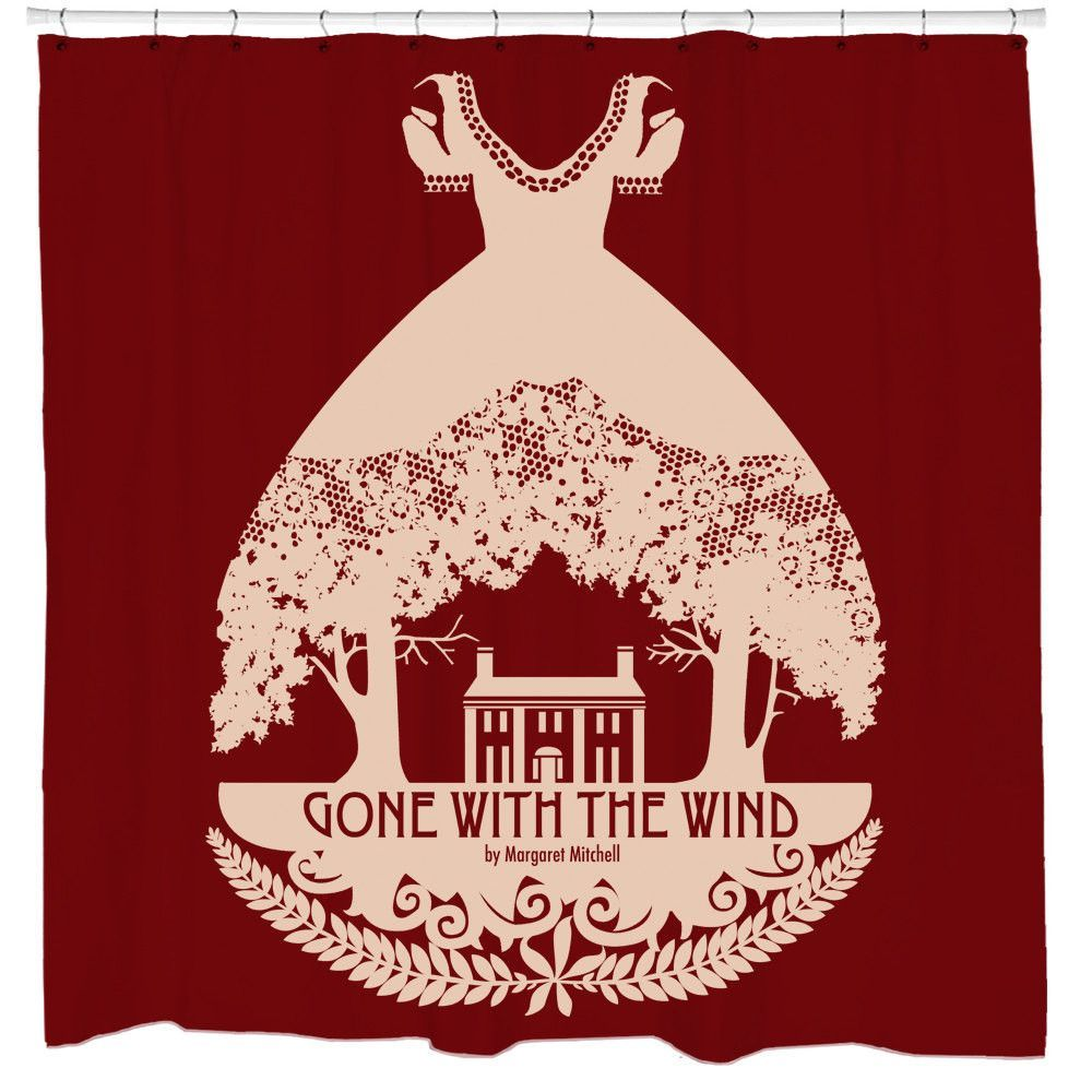 Sharp Shirter Gone With The Wind Shower Curtain 71 X 74 Inches Standard Blue Wash
