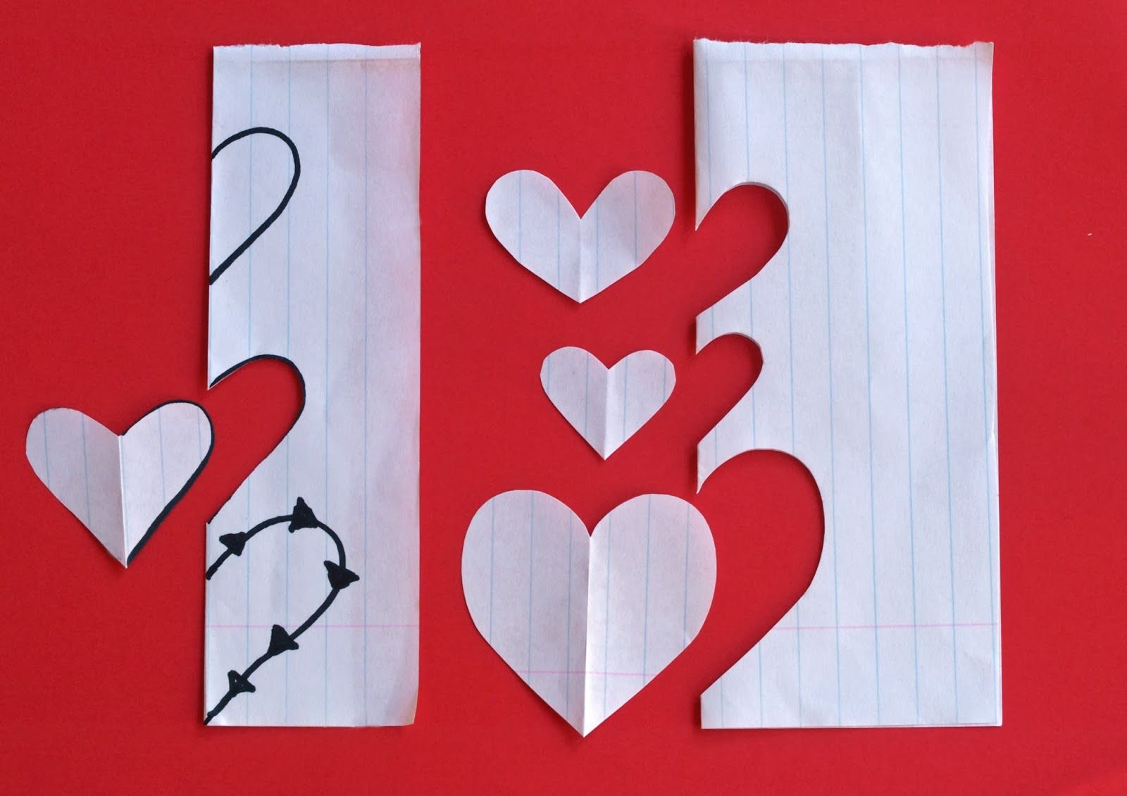 freshly found - How to quickly make a heart shape pattern
