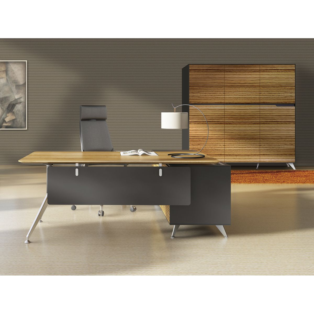 25 Cool Modular Home Office Furniture Designs: 400 Collection Executive Desk With Cabinet By Jesper