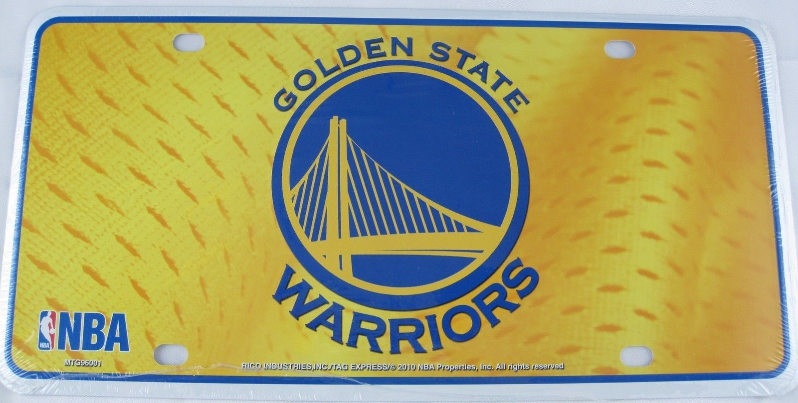 GOLDEN STATE WARRIORS LICENSE PLATE METAL BASKETBALL TRUCK AUTO NBA ...