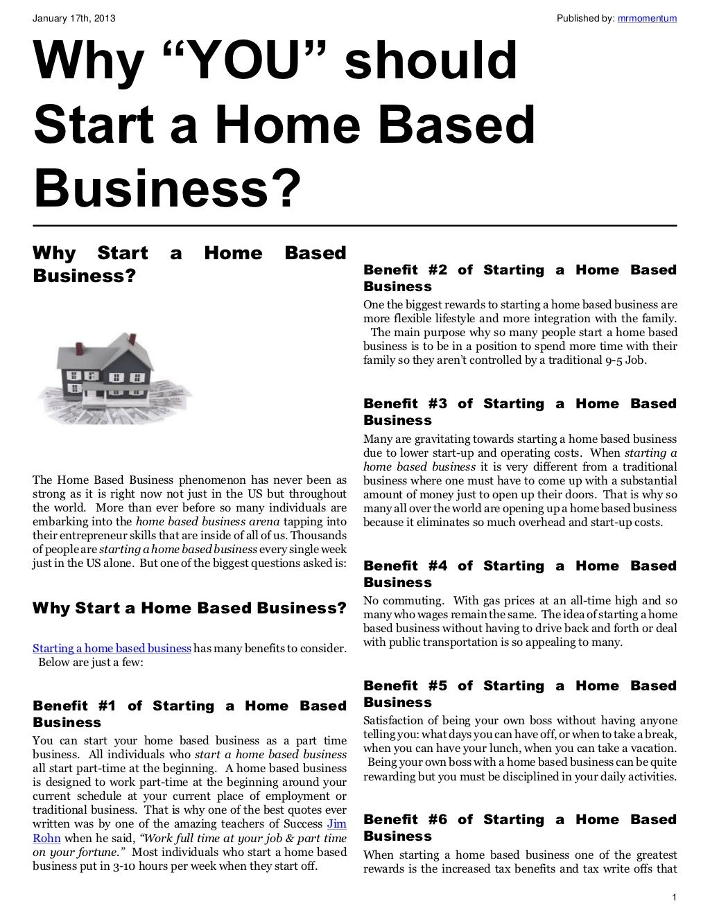 Enchanting Why Start A Home Based Business Ornament - Home ...