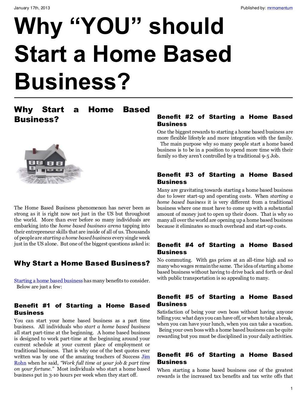 why-you-should-start-a-home-based-business by Nicholas Guzman via ...