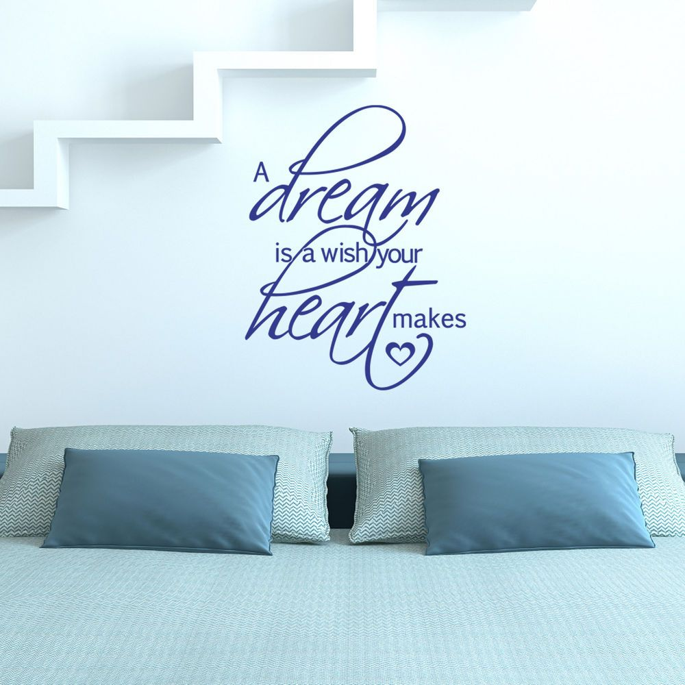 A Dream Is A Wish Your Heart Makes Wall Sticker Decal In Home - Custom vinyl stickers ebay