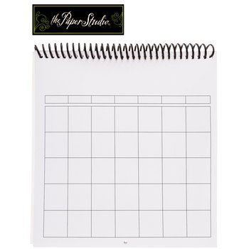 8 X 8 White Blank 12 Month Calendar Getting Organized Hobby