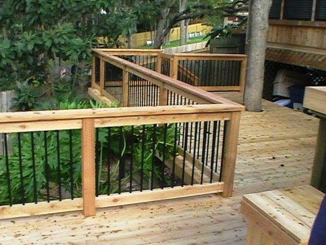 Deck railing pergolas deck railing ideas pinterest for Dec para terrazas