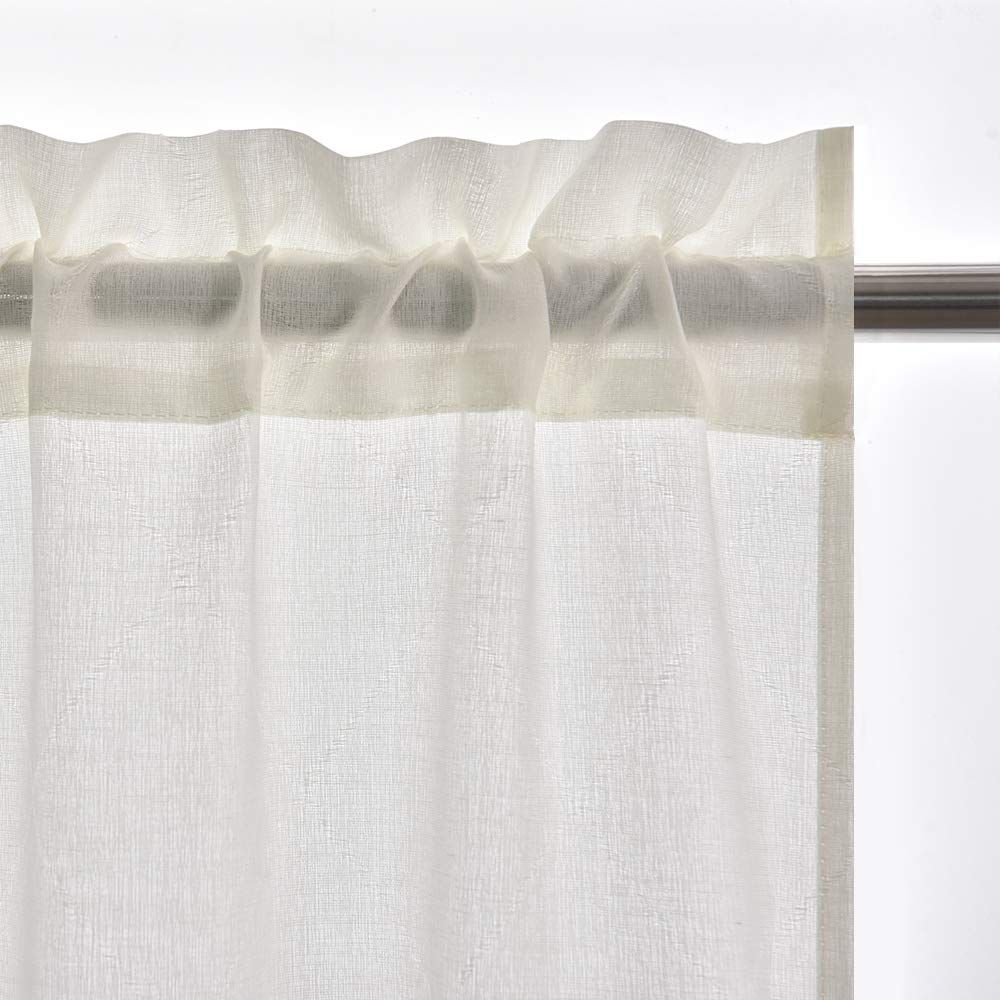 Ecodecor 24 Cafa C Tier Sheer Curtains Ivory Half Window Curtain