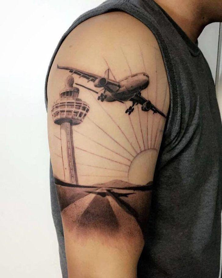Travel Highlight Flugzeug Tattoo Ideen Zeichnungen