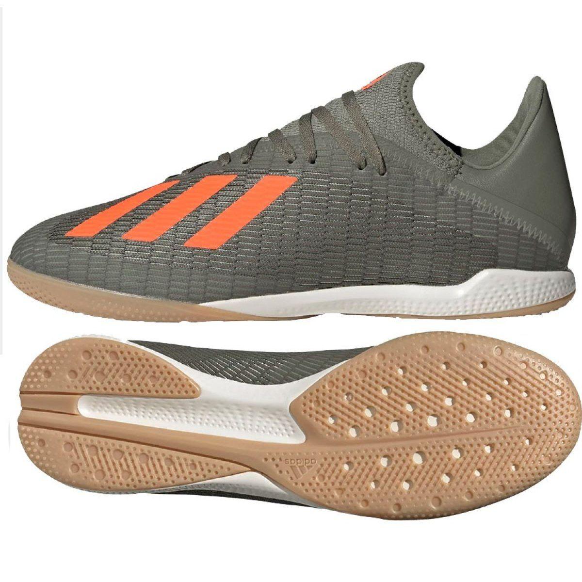 Buty Halowe Adidas X 19 3 In M Ef8367 Szare Szare Indoor Shoe Adidas Shoes
