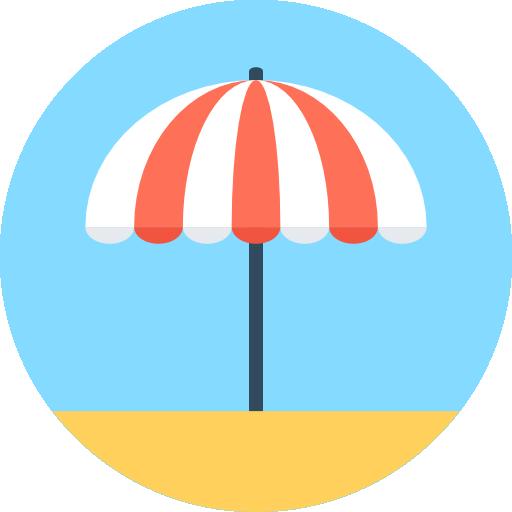 Sun Umbrella Free Vector Icons Designed By Vectors Market Sun Umbrella Vector Icon Design Pictogram Design