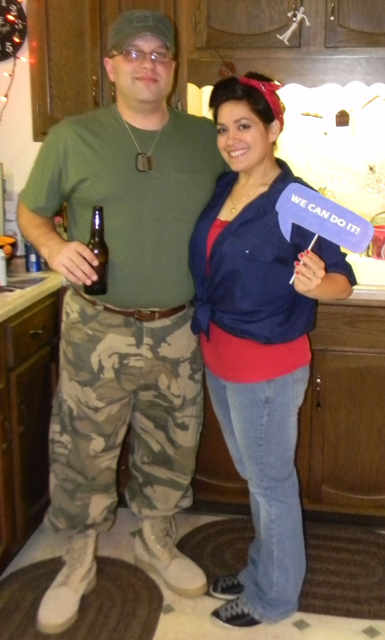rosie the riveter halloween costume diy couples costume rosie the riveter and soldier - Rosie The Riveter Halloween Costume