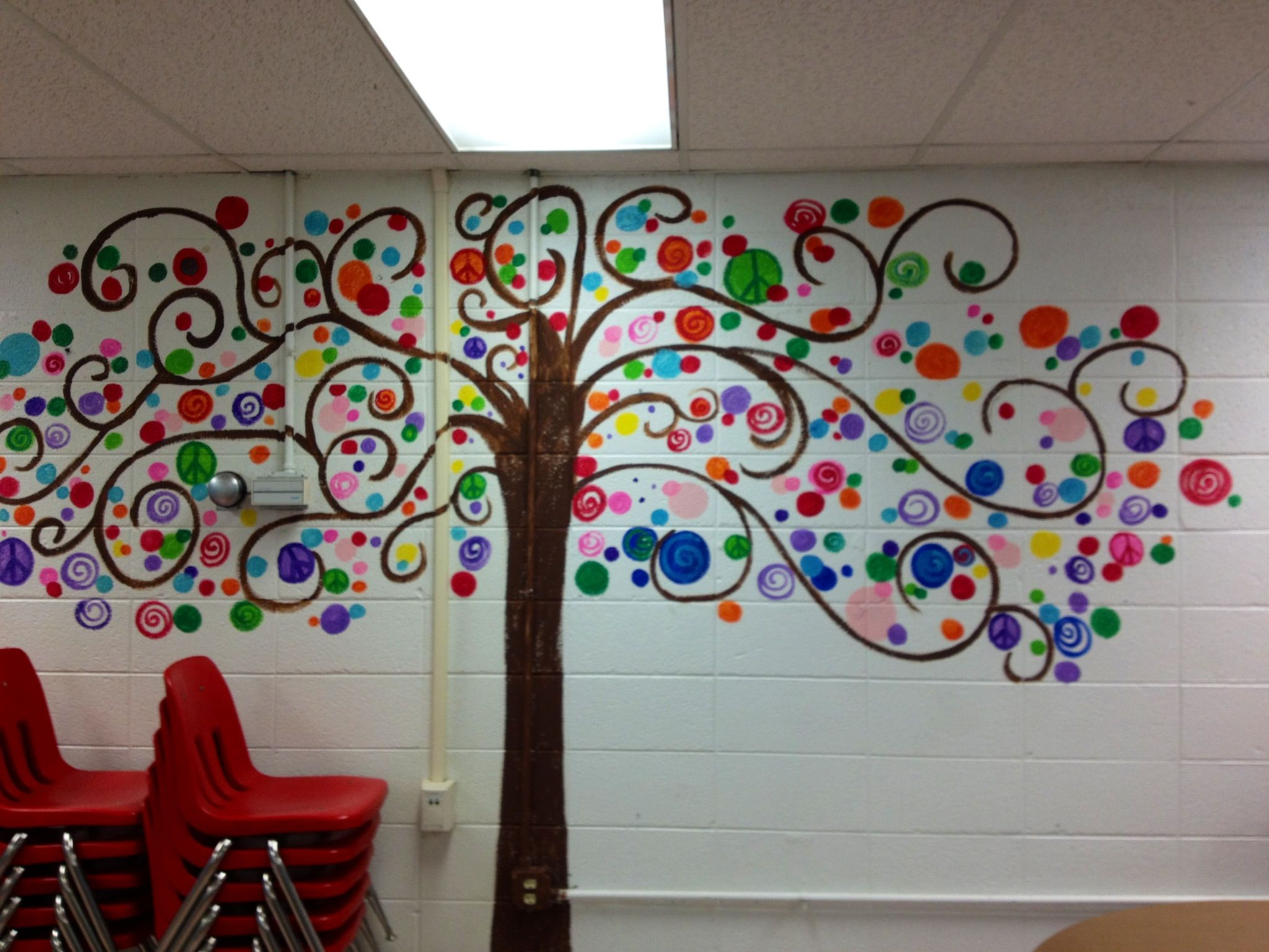 Bubble Tree I Painted In My Classroom A Little Paint For