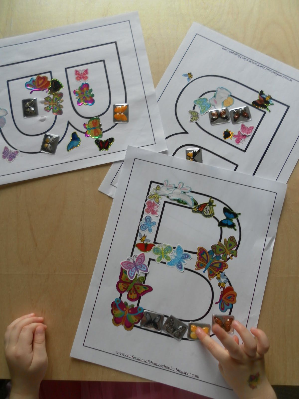 Letter Coordinating Stickers