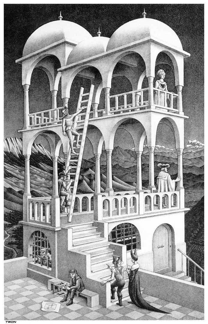 Escher M Optical Illusion Art Belvedere A Optical Illusion M C