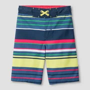 f42d1251ccd7e Boys' Swim Trunks Cat & Jack™ - Multi Stripe | My work | Boys swim ...
