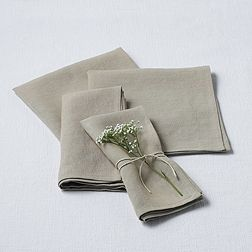 Taupe Linen Napkin - Set of 4