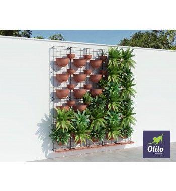 Painel Jardim Vertical Modular Ferro 43x43cm - Oli