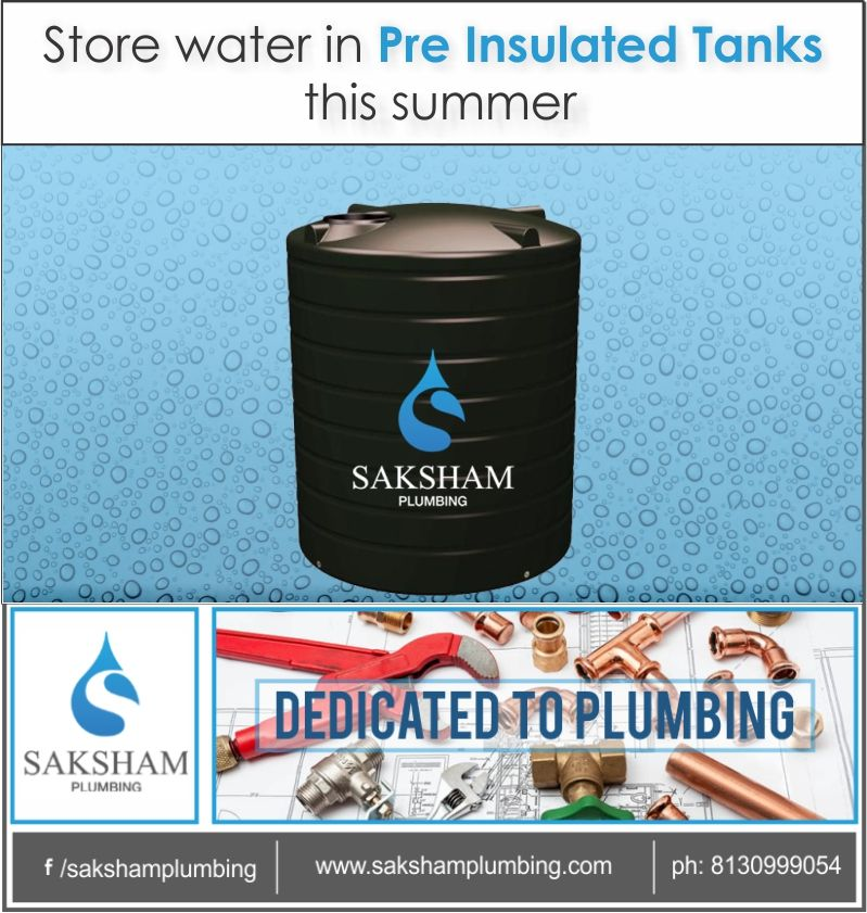 Store Water In Preinsulatedtanks This Summer Summer Brings In Lots Of Water Issues More Days Without Water Supply Th Water Tank Insulated Smart Solutions