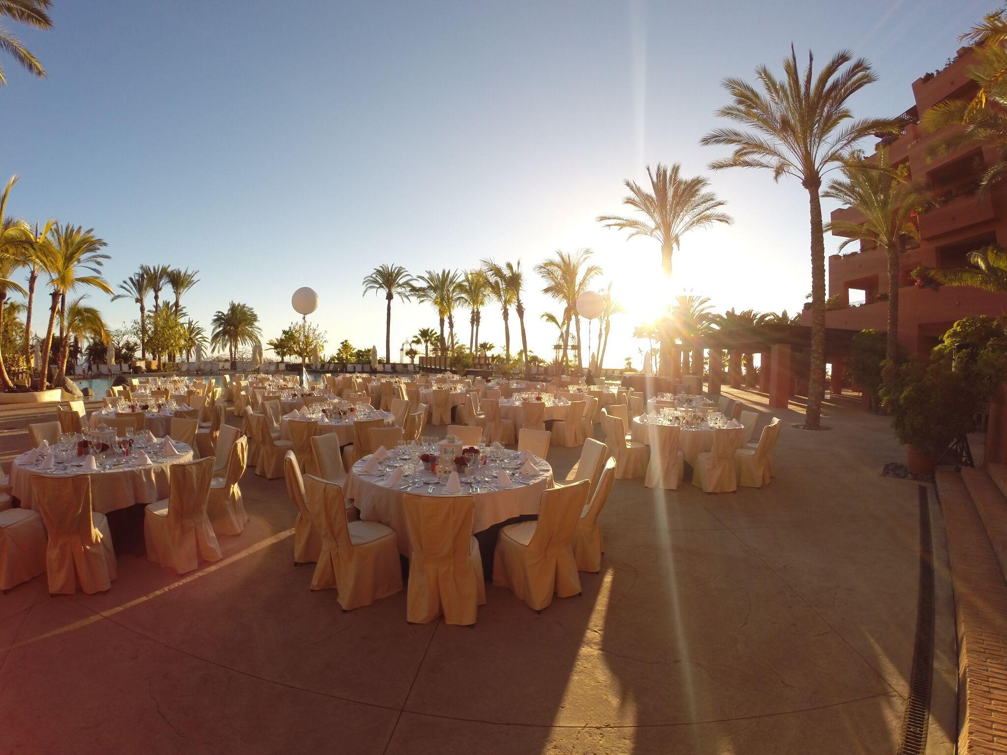 Banquete Exterior Piscina