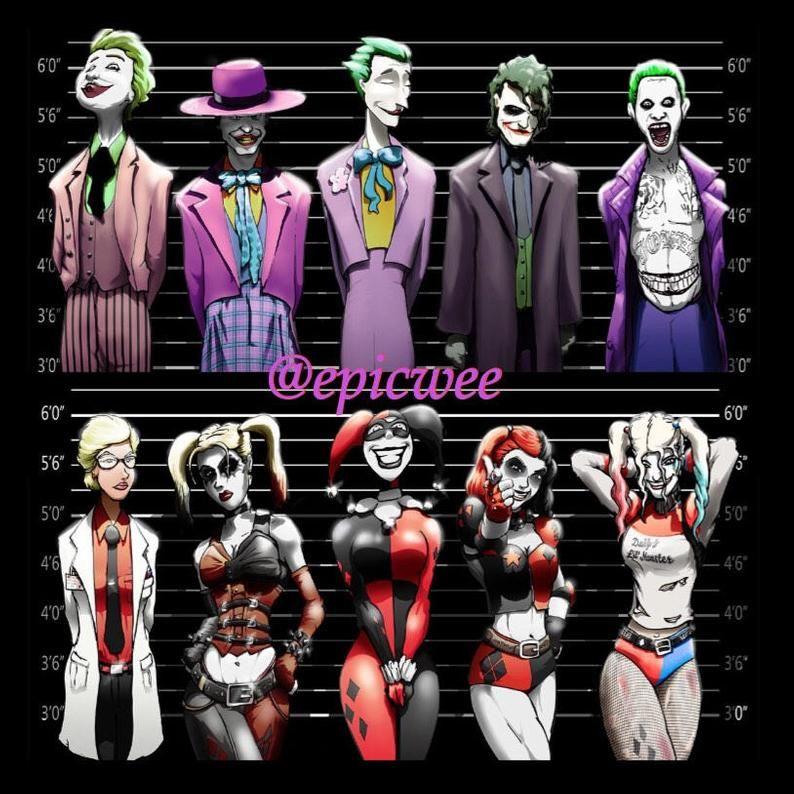 Harley Quinn Line Up 11x17 Print