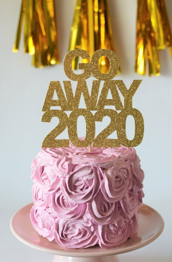 2021 Cake Topper, Hello 2021 Cake Topper, New Years Eve Pick, NYE 2021 Topper, Happy New Years Cake Topper, Sparkly 2021 Topper