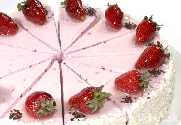 Výsledok vyhľadávania obrázkov pre dopyt Jahodová zmrzlinová torta