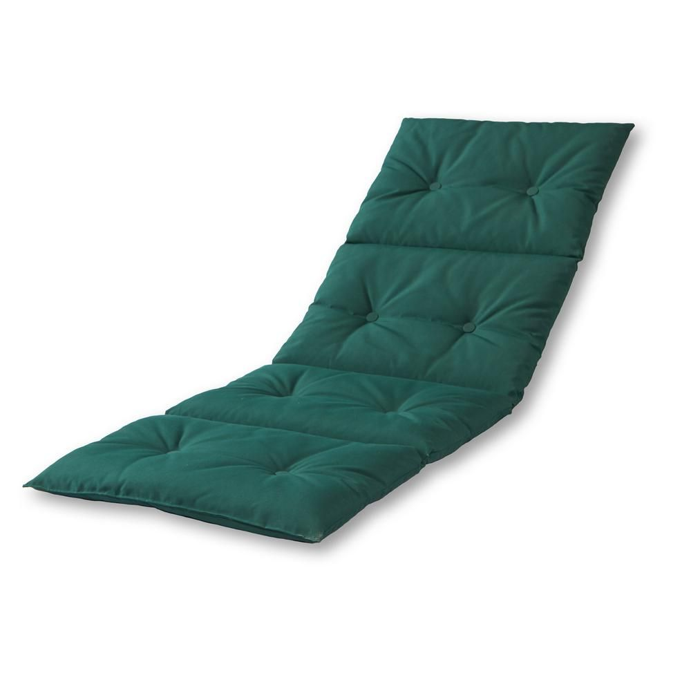 Greendale Home Fashions Solid Forest Green Outdoor Chaise Lounge Pad Oc7910 Forestgreen Patio Chaise Lounge House Styles Lounge Chair Cushions