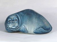 painted rock - seal