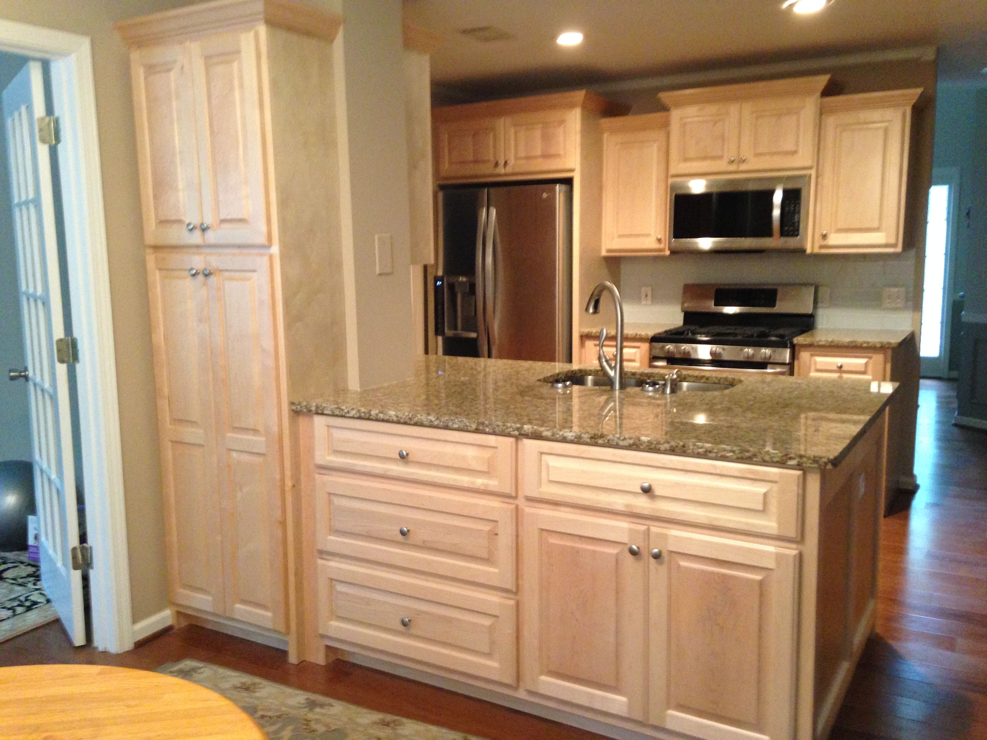 Lovely Staining Maple Wood Cabinets